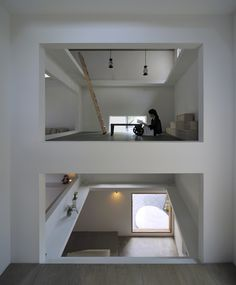 I really like the idea of those open spaces conected intermittently, just when needed with ladders.House T by Hiroyuki Shinozaki.  Love IT