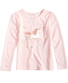 Epic Threads Mix and Match Unicorn-Print Long-Sleeve T-Shirt, Toddler & Little Girls (2T-6X), Created for Macy's