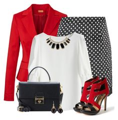 Red Jacket by allysha-fa on Polyvore featuring polyvore fashion style Chicwish Dolce Vita Dolce&Gabbana Kate Spade TomShot clothing