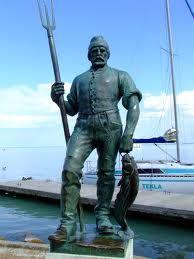 Fisherman statue, Lake Balaton, Hungary