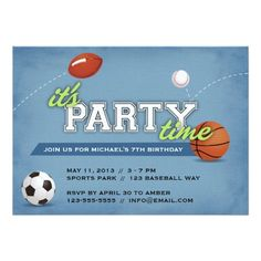 469 Best Sports Birthday Party Invitations Images In 2019 Sports