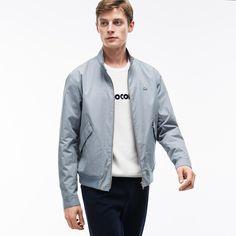 LACOSTE Men s Cotton Blend Gabardine Harrington Jacket - mill blue.  lacoste   cloth   · CasacoLacoste Para HomensRoupa ... 1f6ce6fa4b