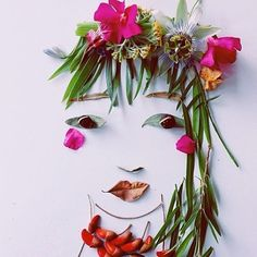 Justina Blakeney Creates Botanical Beauties Using Leaves and Flowers