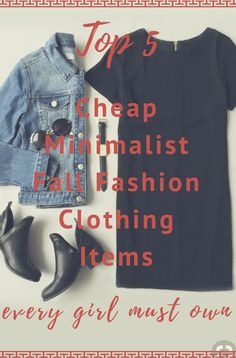Top 5 minimalist fall fashion items every girl should own! #fallfashion #minimalistfallfashion