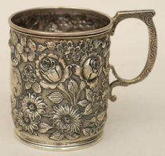 Antique American Repousse Sterling Silver Pattern