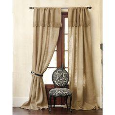 I need burlap curtains!