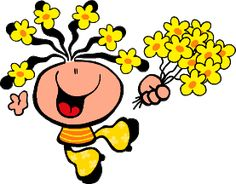 Spring is here. Baby Painting, Spanish Memes, Spring Is Here, Morning Images, Bubble Gum, Minnie Mouse, Bubbles, Clip Art, Disney Characters