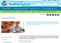 This online resource from Reading Rockets provides a wide array of information for teachers and parents. Information regarding classroom strategies, writing resources, and assessments are provided for kindergarten to grade three, as are writing samples. I found these writing samples particularly helpful because they are annotated with observations and next steps which gave me a good overview of the developmental stages and processes related to writing.