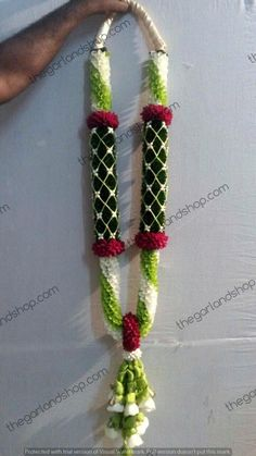 Wedding Garland- White and Green orchid. visit our website for exciting garland collection to make your special day even more flower-full. Flower Garland Wedding, Floral Garland, Flower Garlands, Wedding Garlands, Wedding Bouquets, Wedding Flowers, Simple Wedding Decorations, Flower Decorations, Indoor Fall Wedding