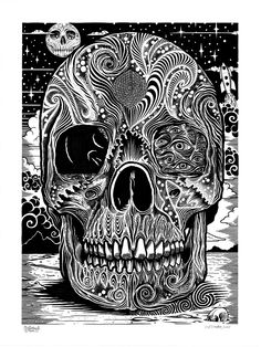 Skull Coloring Pages, Printable Adult Coloring Pages, Fairy Coloring, Cool Coloring Pages, Coloring Pages To Print, Coloring Books, Coloring Sheets, Alice In Wonderland Drawings, Color Me Beautiful