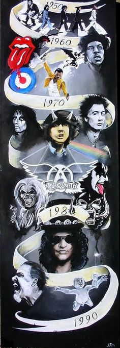 Rock n' Roll Gods and legends. Rock on through the years.