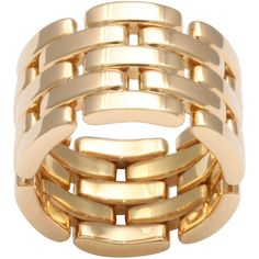 CARTIER, Maillon Panthere Ring ❤ liked on Polyvore