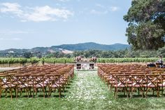 Vineyard Wedding Reception at Chateau St. Jean