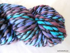 Dynamic - soft bulky weight Merino handspun 2 ply yarn by EarthMother Designs