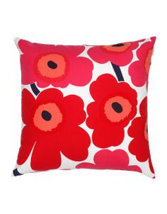 Designed in the 60s, this Poppy pattern is a great rtor pop of colour | Pieni Unikko Decorative Pillow by MARIMEKKO | Hudson's Bay