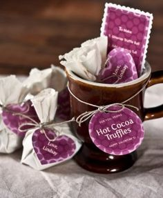 Hot Chocolate Truffle Balls from My Own Ideas blog #chocolate #valentinesday #homemade #recipe #gift #packaging