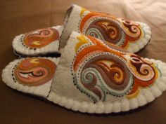 Felt slipper inspiration
