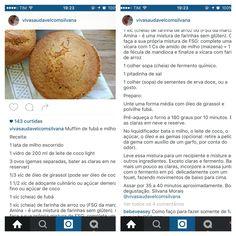 Muffins de fuba e milho
