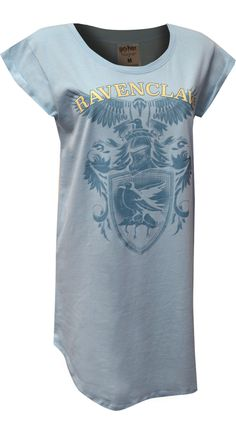 This is one fun Harry Potter nightshirt for plus size ladies! Made of a soft cotton blend fabric, you will not want to sleep in anything else. The design features the Ravenclaw House Mascot, the raven, on a pretty pastel blue background. Lounge Pants, Lounge Wear, Pastel Blue Background, Night Shirts For Women, Best Pajamas, Sleep Shirt, Pretty Pastel, Ravenclaw, Harry Potter