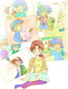 Delia looking at Ash Ketchum's old picture ^.^ ♡ I give good credit to whoever made this
