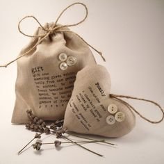 Lavender Scented Heart and Gift Bag