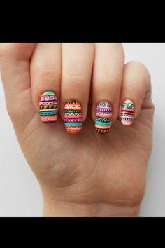 tribal nails!! cute polish