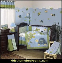 Calm blue sea as far as you can see. The Turtle Reef collection features a combination of vivid colors in various shades of blue, green and yellow and a variety of textured fabrics including faux suede, sherpa, multi-color stripes and sea life motif prints. The quilt and accessories bring to life playful turtles and colorful fish creating a fun yet calming sea life scene that your little aquanaut can enjoy for years.