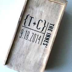Wedding wine box, first fight box, wedding wine ceremony box on Etsy, $72.00