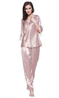 c9908bd0c9 LILYSILK Women s 100% Pure Silk Pajamas Set Silk Pajamas