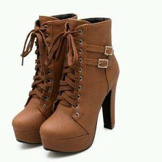 Brown #ankleboots