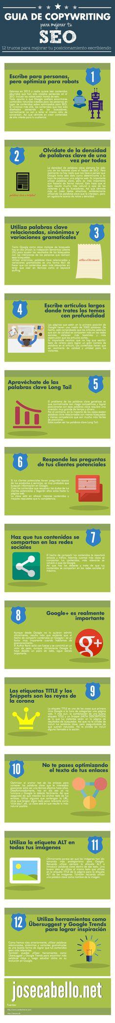 Guía de #Copywriting para mejorar tu #seo vía @josecabello
