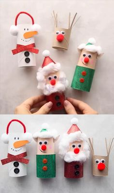 Christmas Toilet Paper, Toilet Paper Roll Crafts, Christmas Ornament Crafts, Xmas Crafts, Diy Christmas Gifts, Christmas Christmas, Christmas Cookies, Christmas Kids Decorations, Toilet Paper Rolls