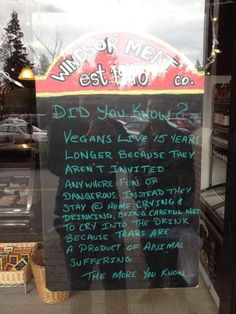Or meat from this butcher's.