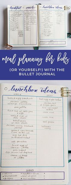 Bullet Journal Meal Planning Spread for Moms http://productiveandpretty.com/bullet-journal-meal-planning-moms/?utm_campaign=coschedule&utm_source=pinterest&utm_medium=Jen%20%2B%20Liz%20%7C%20Productive%20and%20Pretty&utm_content=Bullet%20Journal%20Meal%20Planning%20Spread%20for%20Moms