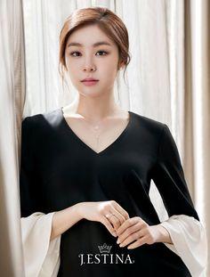 The chillin Queen Sports Celebrities, Korean Celebrities, Celebs, Korean Beauty, Asian Beauty, Kim Yuna, Beautiful Athletes, Autumn Fashion 2018, Pretty Asian