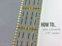 See WHY it Matters to YOU to use a SCANT 1/4 inch seam allowance. 3 videos
