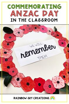 Needing some inspiration for what to do with your students for Anzac Day? Read our blog post on with ideas on what we do with our students for Anzac Day. Teaching Resources, Teaching Ideas, Rainbow Sky, Anzac Day, Remembrance Day, Teacher Hacks, School Resources, School Classroom, Primary School