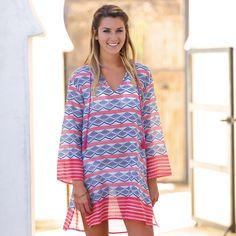 rockflowerpaper Zula Pink Beach Tunic
