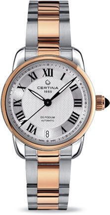 Certina Watch DS Podium Lady Automatic #bezel-fixed #bracelet-strap-gold #brand-certina #case-material-rose-gold #case-width-32-5mm #classic #date-yes #delivery-timescale-7-10-days #dial-colour-silver #gender-ladies #movement-automatic #official-stockist-for-certina-watches #packaging-certina-watch-packaging #style-dress #subcat-ds-podium #supplier-model-no-c025-207-22-038-00 #warranty-certina-official-2-year-guarantee #water-resistant-100m