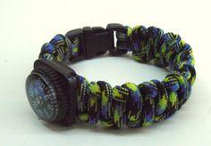 NEW ITEM!!! Survival bracelet Reversed Cobra with mini compass & 1/2'' plastic buckle by LifesavingBracelets on Etsy
