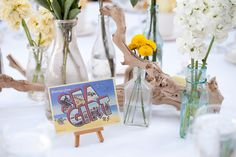 """Vintage Jersey postcards with location names as """"table numbers"""" / This gorgeous wedding takes you to the Jersey Shore, & NOT the kind with Snooki. #Vintage Boardwalk #Wedding: http://su.pr/1D0ItM"""
