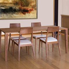 Milan Solid Walnut Dining Chair, Modern