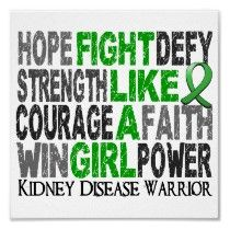Fight Like A Girl~ Kidney Disease