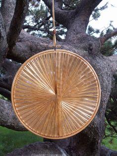 Gold Handmade Light Catcher for an Autumn Wedding - Rustic Fall Wedding Decoration -    by RunawayCape, $15.50