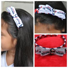 HOUSTON TEXANS Boutique style flat bow on by LunaFayeBowtique, $9.00
