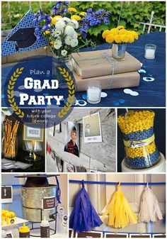 This blog walks you through how to plan a great #graduation open house party by incorporating your high school graduate's college colors and theme into the décor.