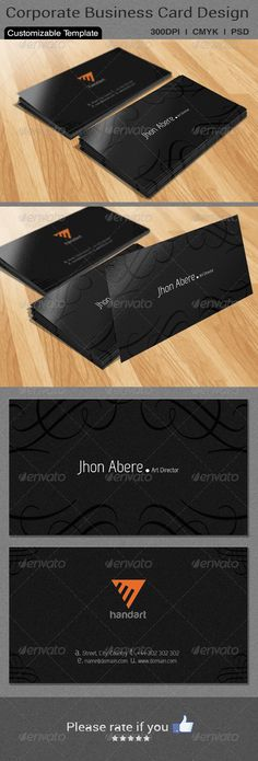 Classic Business Card Design ...  black, business card, card, classic, clean, corporate, floral, fresh, stylish, trendy