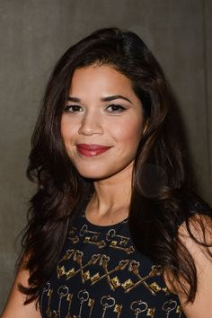 17 Shades of Brown Hair That Are Anything But Blah-America Ferrera  Dark waves with subtle highlights like America's look effortlessly gorgeous.