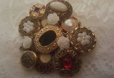 Brooch made out of old buttons