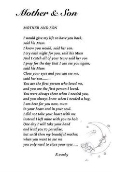 For a mother who lost her son. <3 Thank you David. <3